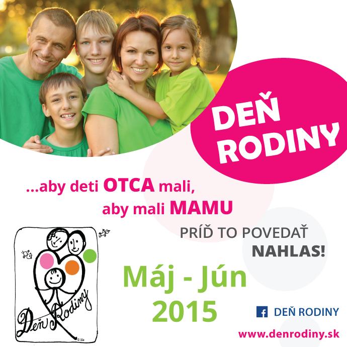 S májom prichádza aj ďalší ročník celoslovenského podujatia Deň rodiny