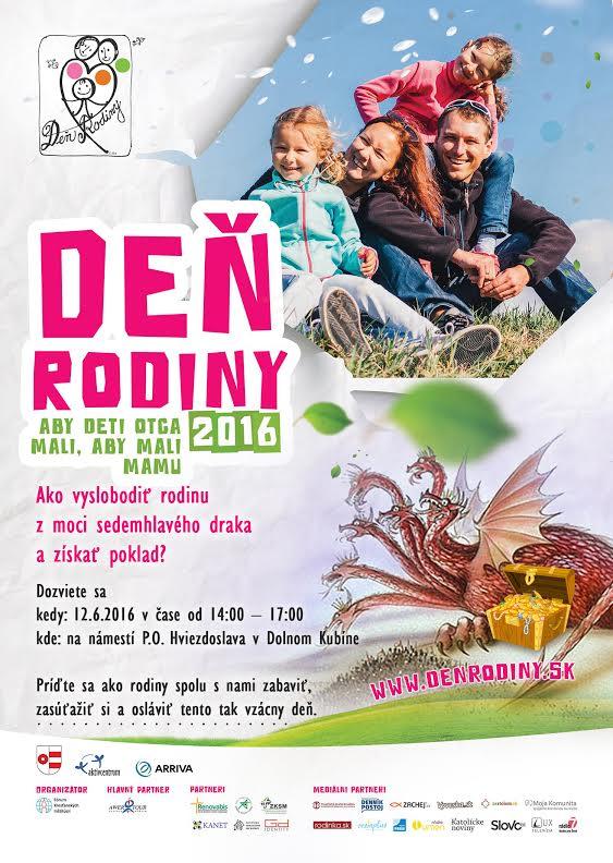 Plagát Deň rodiny 2016 FINAL Dolný Kubín