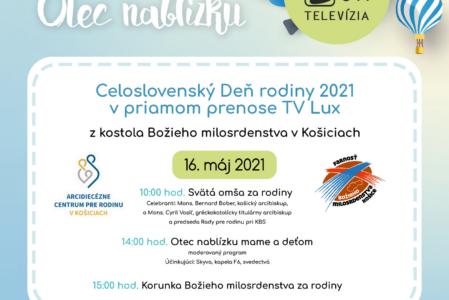 16. mája Deň rodiny z Košíc pre celé Slovensko