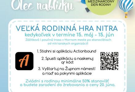 Nitra pozýva na Veľkú rodinnú hru 2021!
