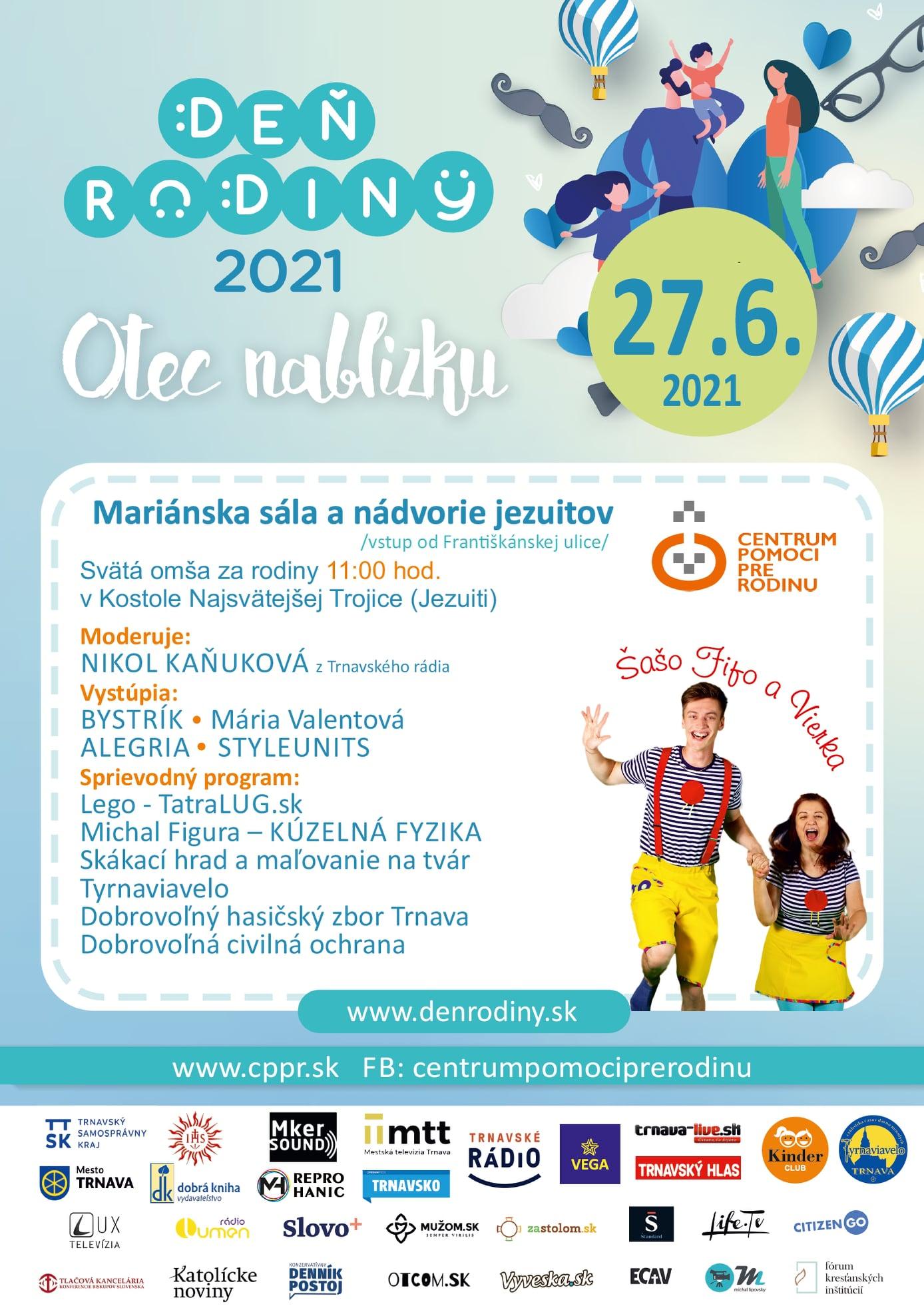 V Trnave oslávia Deň rodiny 27.6.